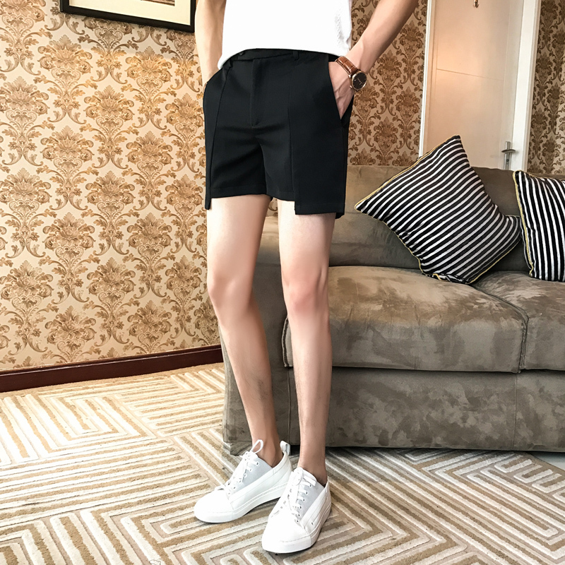 4 Colors Solid Men Shorts Black Grey Khaki Green Shortshombre Casual 2018 Mens Summer Shorts Casual Beach Slim Fit Shorts