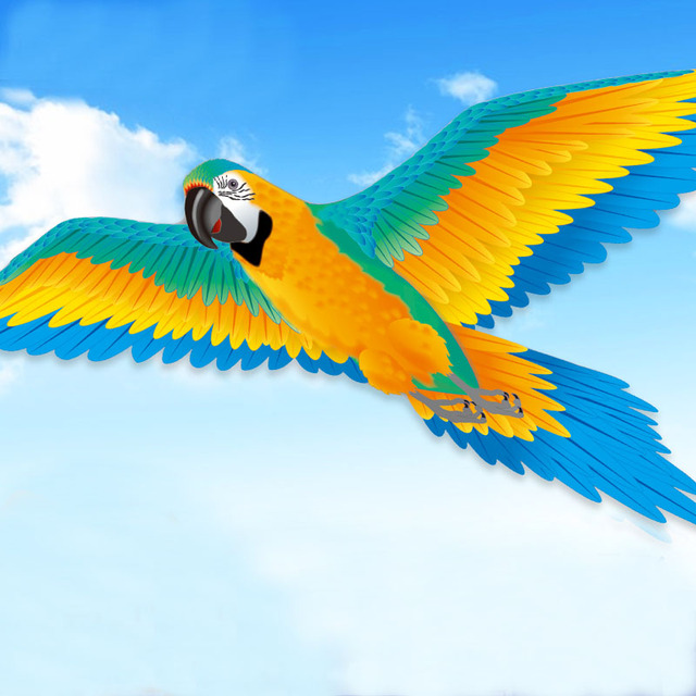 New 188cm Super 3D Parrot Kite Stereo Parrot Kite Easy to Fly Outdoor Fun Sport Toys For Children and Adults Gift Good Quality