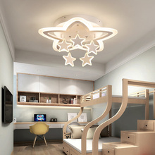Modern creativity star kid room ceiling light for boy children bedroom lamp living room lights LED ceiling lamp fxitures E27 led ceiling lamp children bedroom light main bedroom light boy girl warm romantic star cartoon shaped lights creative