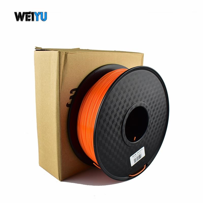 Top Quality Brand 3D Printer Filament 1.75 1KG ABS/PLA/PETG plastic Rubber Consumables Material 3 kinds colours