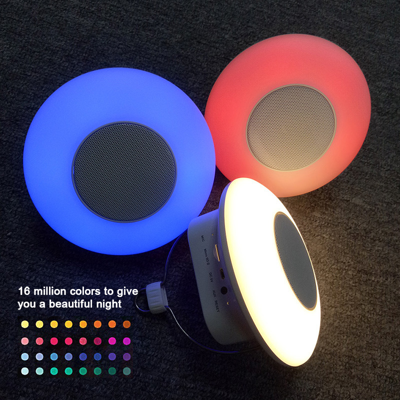 LumiParty Portable Wireless Bluetooth Smart Night <font><b>Light</b></font> with Speaker Touch Control Color <font><b>Outdoor</b></font> Camping Lamp jk30