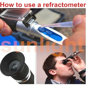 Image 3 - Heiße Verkäufe 10 teile/los RHB 32ATC 0 32% Brix refraktometer mit Kunststoff Kleinkasten