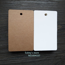 50pcs/lot 2colors white and Kraft paper Hang tag Retro Gift Hang tag 5.4x9cm