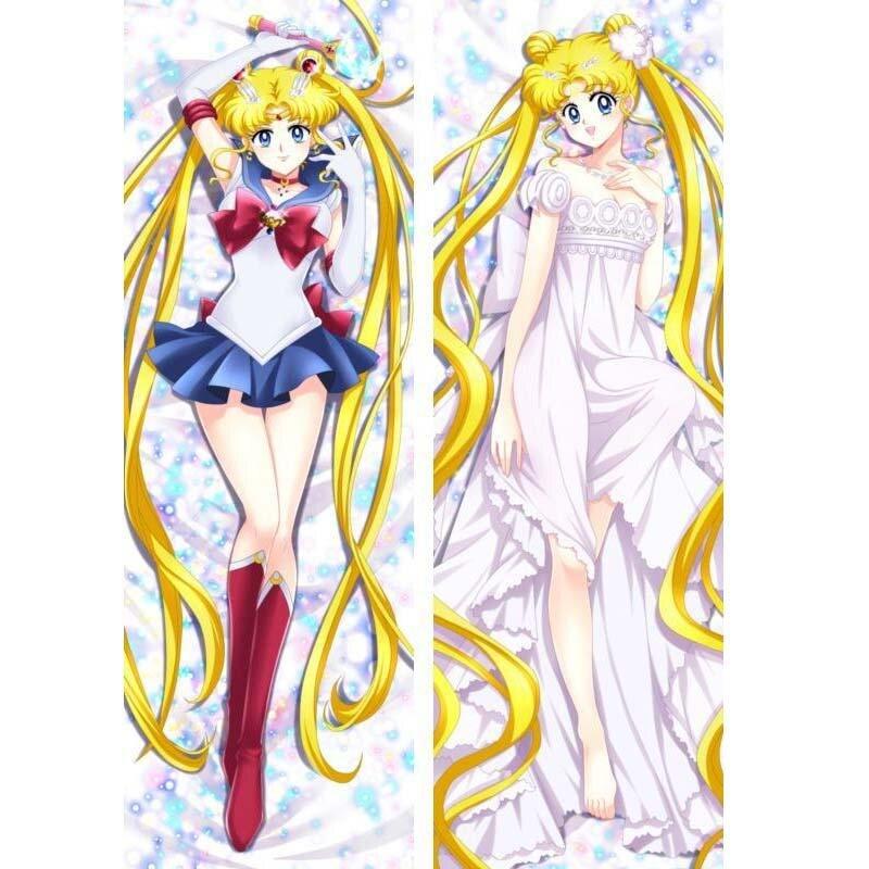 "150 SAILOR MOON Anime Dakimakura pillowCase Body Cushion Cover 59/"" Tsukino Usagi"