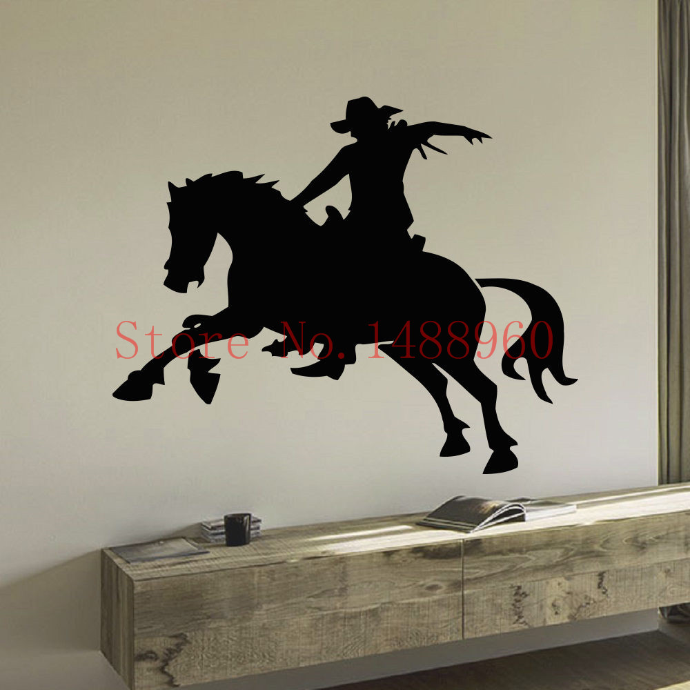 Popular horse people buy cheap horse people lots from for Cowboy wall mural