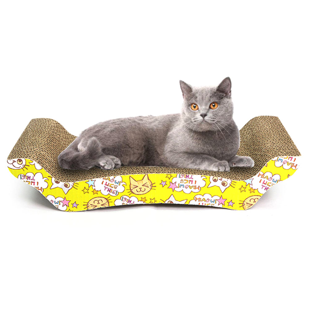 Cat Scratch Board Pad Cat Toys Scratching Posts Kitten Corrugated Paper Pad  M Shape Cats Grinding
