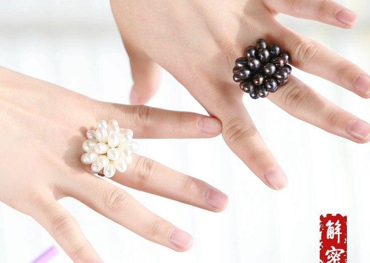 Смешанные цвета! Регулируемое модное пресноводное Ювелирное кольцо с жемчугом Изящные красивые ювелирные изделия красивый аксессуар, 20 шт./партия