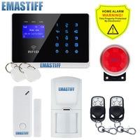 Free Shipping Wireless GSM SMS TEXT Touch Keypad Alarm System New PIR Sensor RFID 2 New