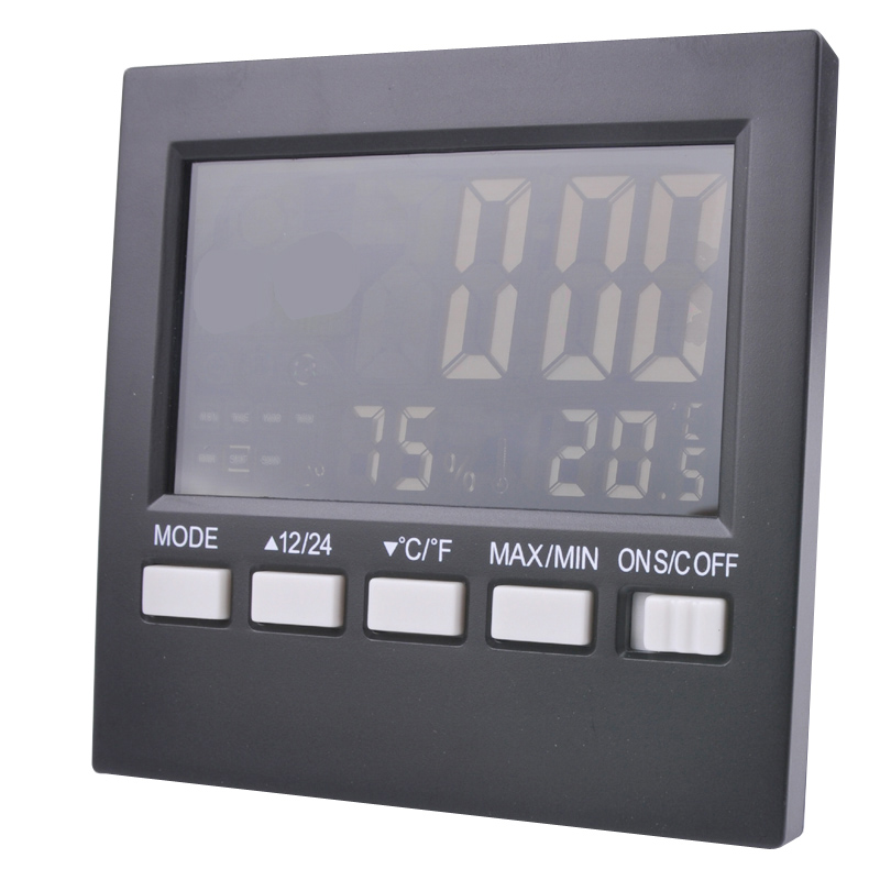 Free shipping LCD screen with backlight temperature and humidity font b indoor b font and outdoor