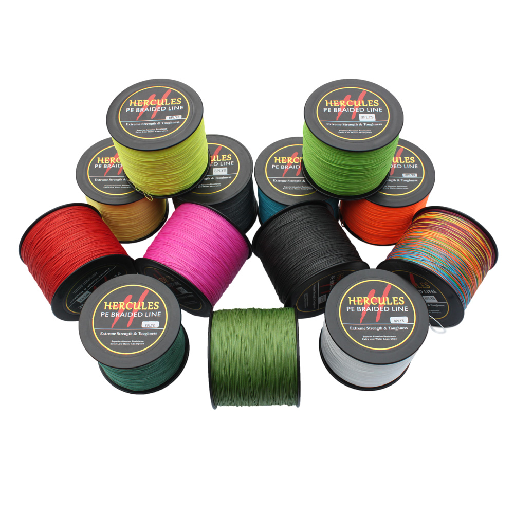 Big Game Strong Super Power Hercules 100% PE 1500M 120LB 1640Yds 0.58mm Superior Extreme 8 Strands Braided Fishing Line 1000m hercules 8 strands super strong 100% pe power ocean fishing superior extreme 1094yds 70lb 0 44mm braid fishing line