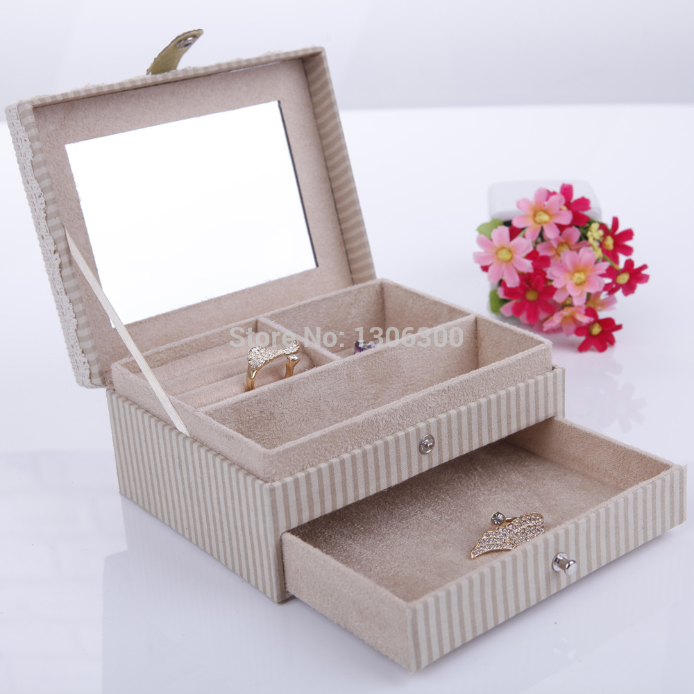 Nwe Arrival Pastoral style Jewelry Box Cute bunny Single Drawer