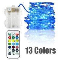 20X RVB LED Étoilé Guirlandes 5 M Multi changement de Couleur Twinkle Lumière Chronométré Dimmable avec Télécommande Intérieur Extérieur utiliser
