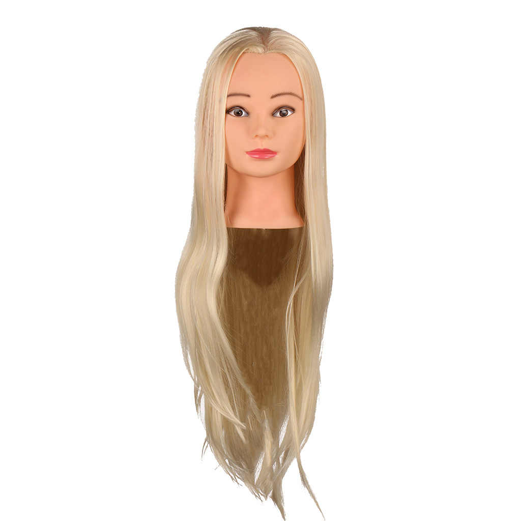 Prawdziwe ludzkie włosy lalka Salon fryzjerstwo cięcie stylizacja manekin model treningowy trening głowa kolor skóry