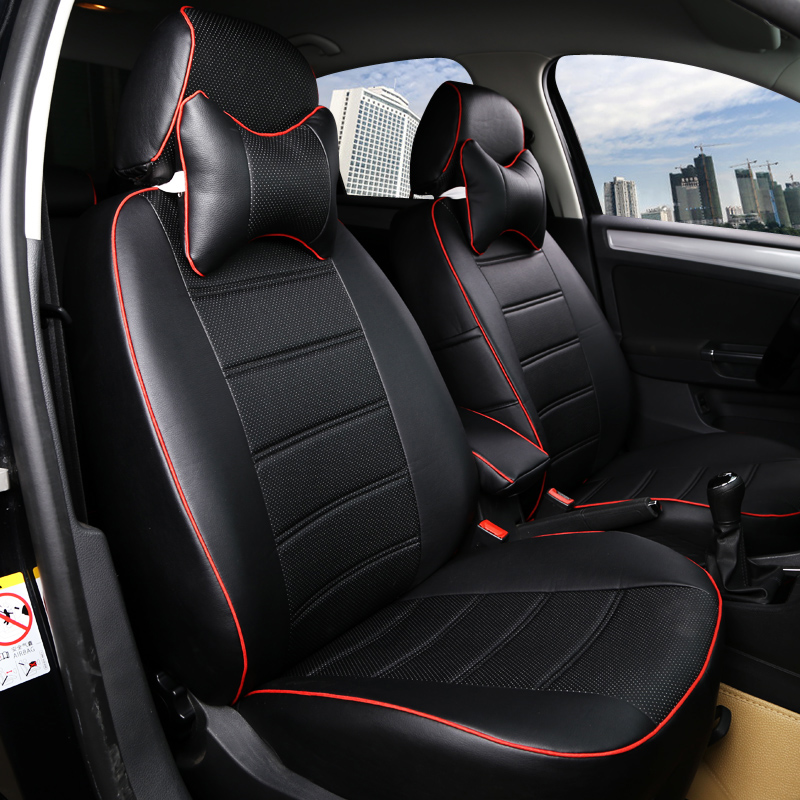 5 Seats Customized Car Seat Covers Leather Four Seasons General For Cadillac Cts Cls Sts Flitwood Savil Escalande Srx Jade White