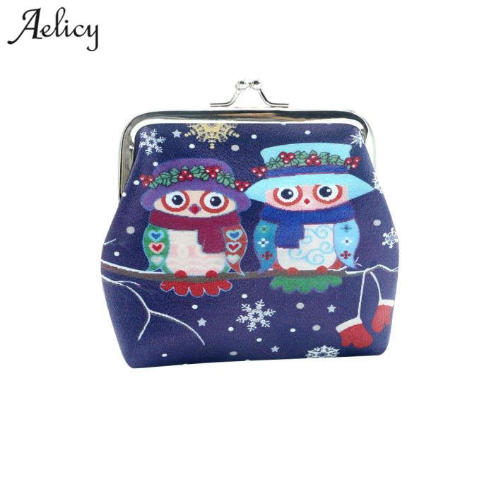 Aelicy Owl Coin Purses Women Wallets Small Cute Cartoon Kawaii Card Holder Key Money Bags for Girls Ladies Purse Children hot sale owl pattern wallet women zipper coin purse long wallets credit card holder money cash bag ladies purses