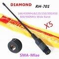 5PCS/LOT Diamond Antenna RH701 SMA-Male Dual Band Antenna RH-701 for BAOFENG UV-3R VX-3R TH-F5 TH-UVF9 KG-UV6D PX-2R TH-UV3R
