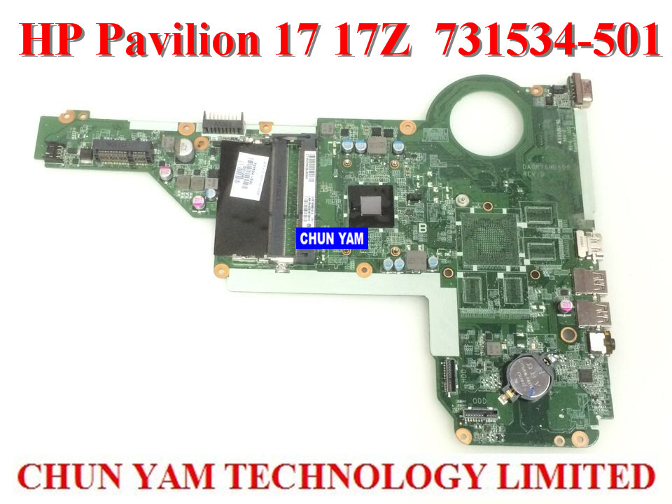 ФОТО 731534-501 for HP Pavilion 17-E laptop motherboard DA0R76MB6D1 REV:D A4-5000 Notebook system board  100% Tested 90 Days Warranty