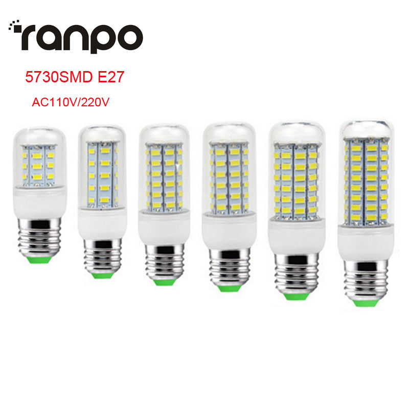 HOT SMD 5730 E27 24LEDs 36LEDs 48LEDs 56LEDs 69LEDs 72LEDs Corn Bulb light Chandelier 7W 12W 15W 20W 25W LED lamp For Home Light 3pcs brelong g9 12w 1200lm smd 5730 led corn light