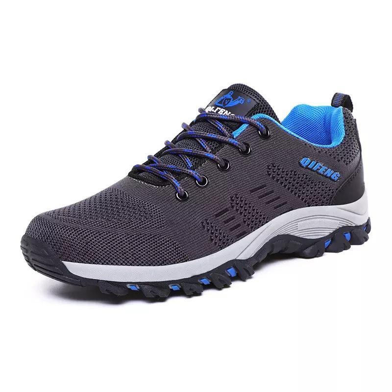Sneakers Men Safty-Shoes Outdoor Trekking Hunting Breathable Large-Size New Mesh Anti-Slip