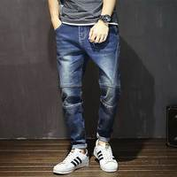 Oversize Autumn Winter Men S Tapered Jeans Trousers Denim Harem Pant Plus Size 40 42 44