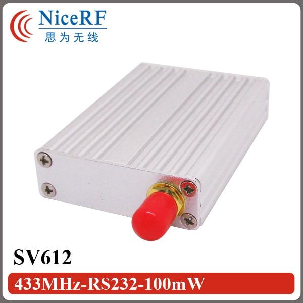 Industriële Multi-Kanalen 868 MHz Radio Data Transceiver SV612 100 mW 1.4 km TTL / RS232 / RS485 Poort Gratis Verzending