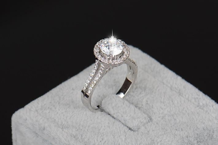 2018 bizhuteri e re fasade e unazës së vërtetë argjendi 925 të - Bizhuteri të modës - Foto 6