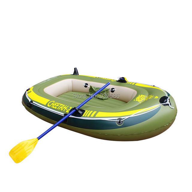 CHEETAH  2 Inflatable Boat HOT Summer Rowing 0.5 Mm Thick PVC Drifting  Dinghy Fishing Boat
