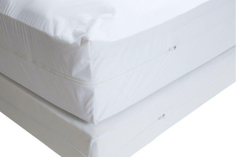 Бесплатная доставка Весна для кровати размер 165x200см Гладкий Allerzip водонепроницаемый чехол для матраса с коробкой на молнии
