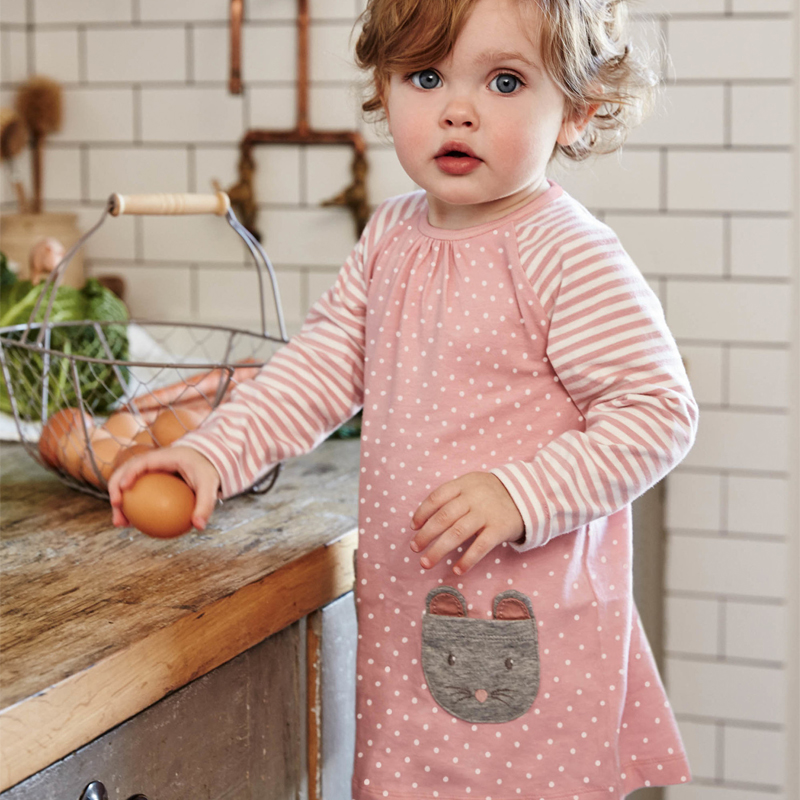 2018 Girl Dress Kids Clothing For Girl Children Clothes With Animal Pattern 100% Cotton Toddler Costume Princess Dress Easter
