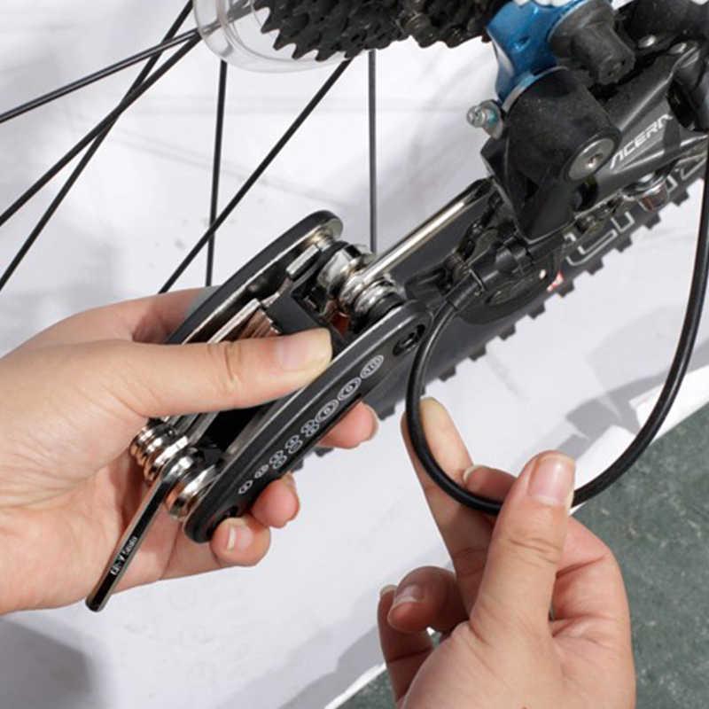 ROCKBROS 16 في 1 أدوات دراجة مجموعات دراجة هوائية جبلية دراجة متعددة أداة إصلاح عدة عرافة تكلم وجع طقم مفكات إصلاح الدراجات الجبلية أداة