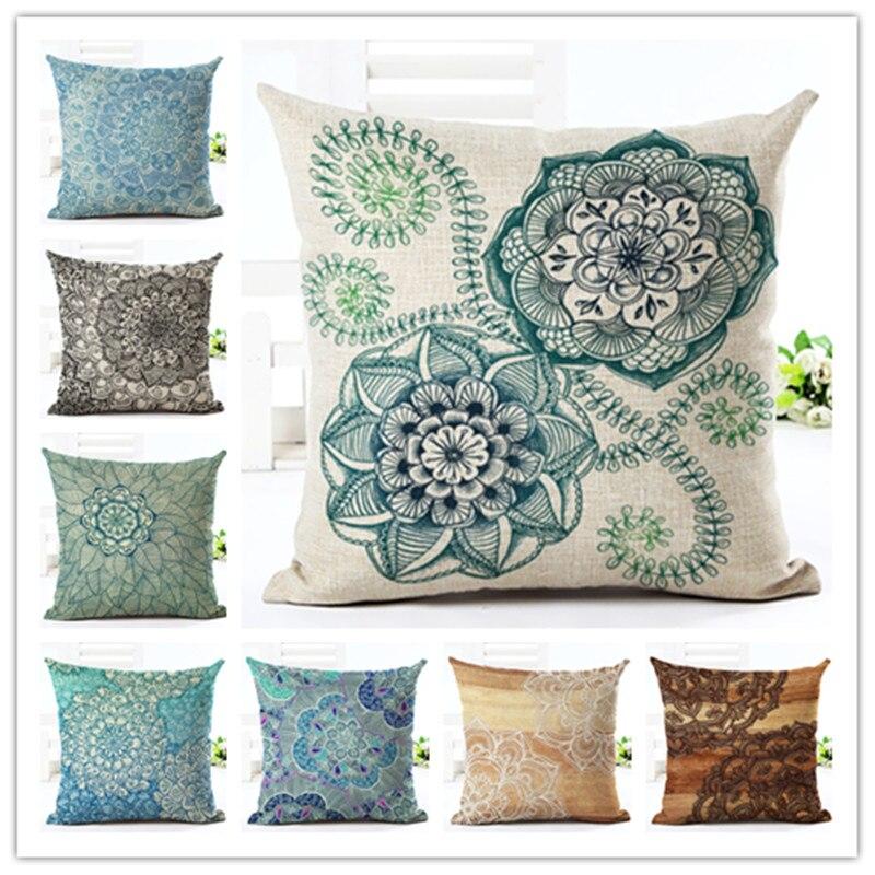 2016 45x45 creative fashion geometry print fundas cotton - Fundas cojines sofa ...