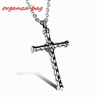MIC 10pcs European and American trade fashion explosion models cross Charm Pendant necklace men jewelry