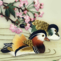 Hot Suzhou Embroidery for beginners handmade decorative mandarin duck painting arts sewing needle craft home decoration 30x40CM