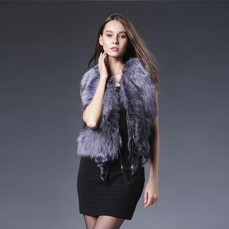 Здесь продается  2018 New Arrival Sleeveless Vest Women Vest Fashion Natural Vests Real Sliver Fox Gilets Genuine Fur Waistcoats Luxurious Coat   Одежда и аксессуары