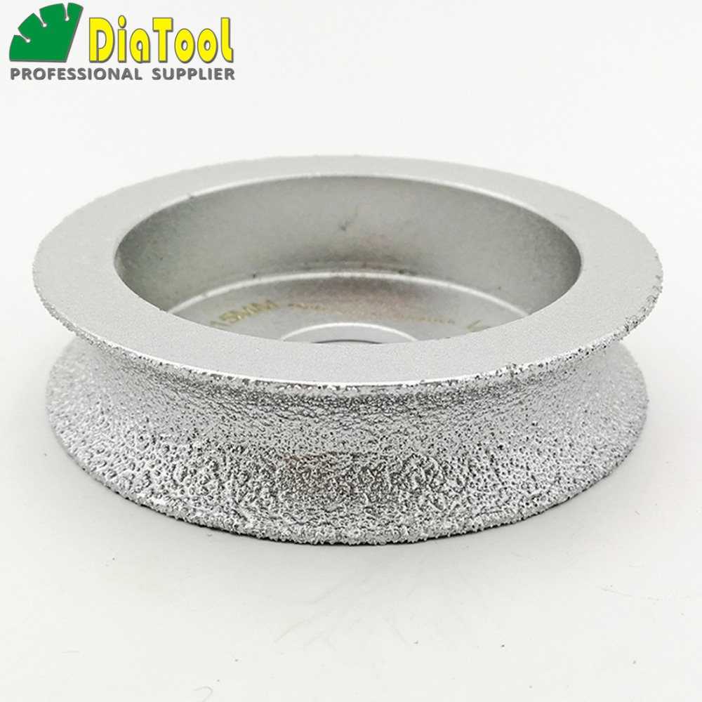 75mmx15MM Vacuum Brazed Diamond Grinding Wheel For Half-Round, Profile Wheel, Edge Grinding Discs