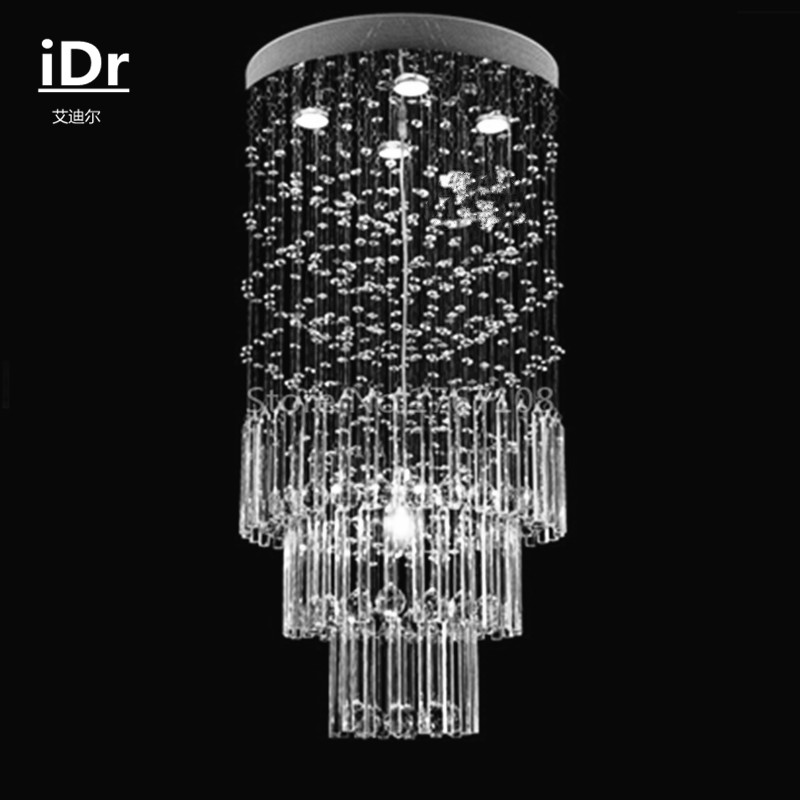 Modern minimalist living room ceiling lamp restaurant stairs round crystal chandelier lights Upscale atmosphere Dia500xH1000mm schwarzkopf краситель без аммиака 3 62 темный коричневый шоколадный пепельный essensity permanent colour 60 мл