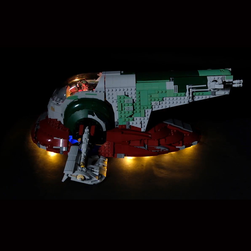 Led Light Set For Lego 75060 star wars UCS Slave No.1 Compatible <font><b>05037</b></font> Building Blocks Bricks Toys (only light+Battery box) image