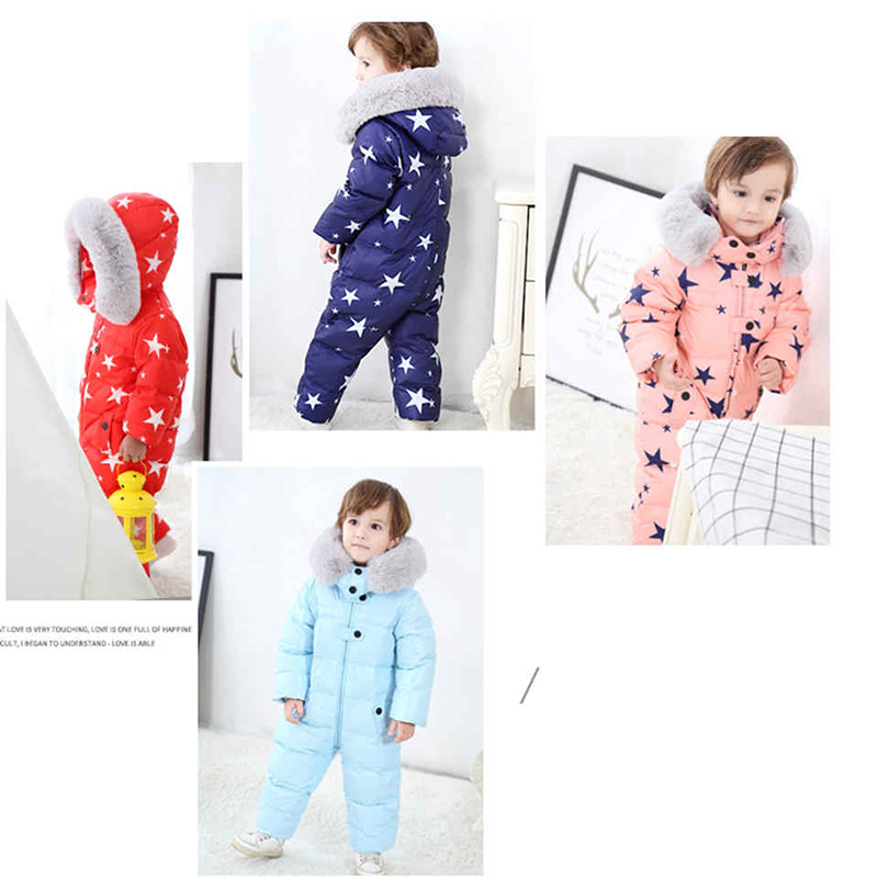 ba6f86fc0 Russia Baby Winter Jumpsuit Clothing Warm Outerwear   Coats Snow ...