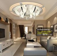 LED 110 220V Sweet Simple romantic Round Crystal Ceiling Lights Sitting Room Bedroom Absorb Dome Lamp Ceiling Lamps