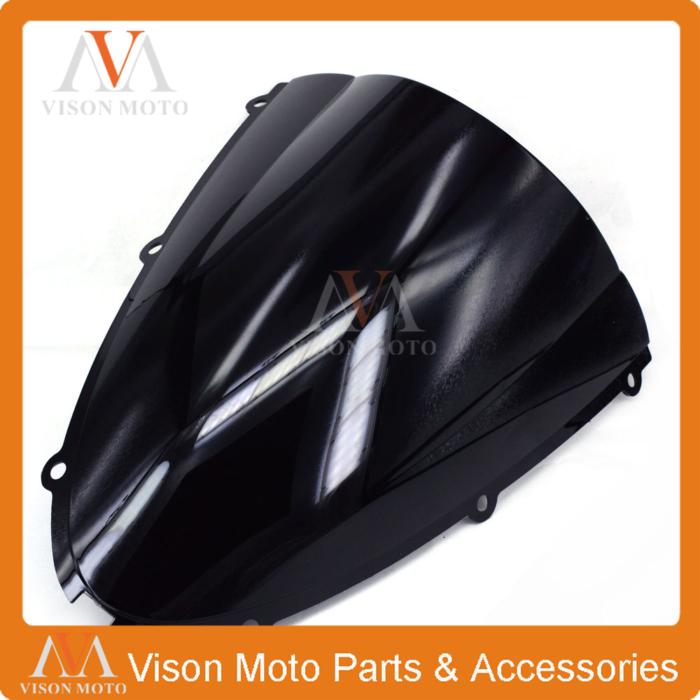 Motorcycle Winshield Windscreen For KAWASAKI ZX6R ZX636 ZX 636 ZX-6R  2005 2006 2007 2008 05 06 07 08 aftermarket free shipping motorcycle parts eliminator tidy tail for 2006 2007 2008 fz6 fazer 2007 2008b lack