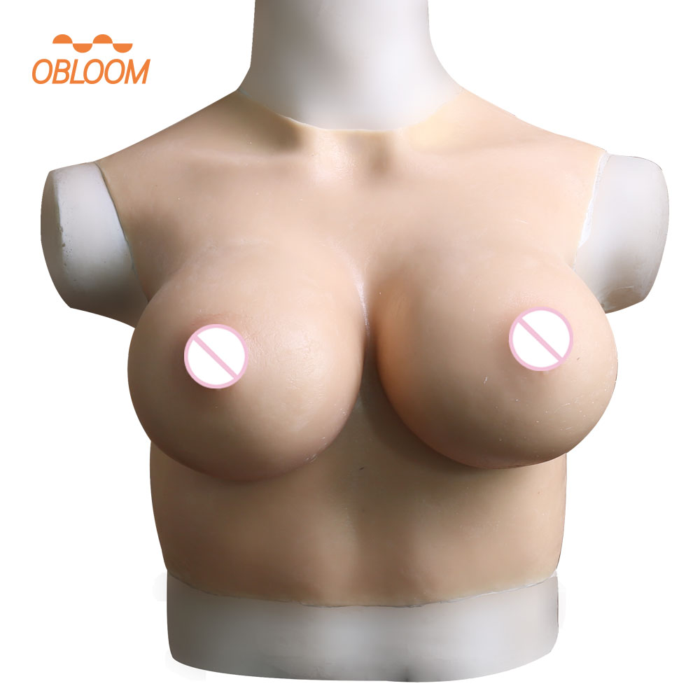 75F Cup Realistic Medical Silicone Round Collar Breast Forms Artificial Boobs Enhancer Crossdresser Shemale Trandsgender Tit