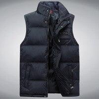 New Stylish Autumn Winter Vest Men High Quality Hood Warm Male Vest Sleeveless Jacket Asian Size