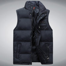 New Stylish Autumn Winter Vest Men High Quality Hood Warm Male Vest Sleeveless Jacket (Asian Size)(China)