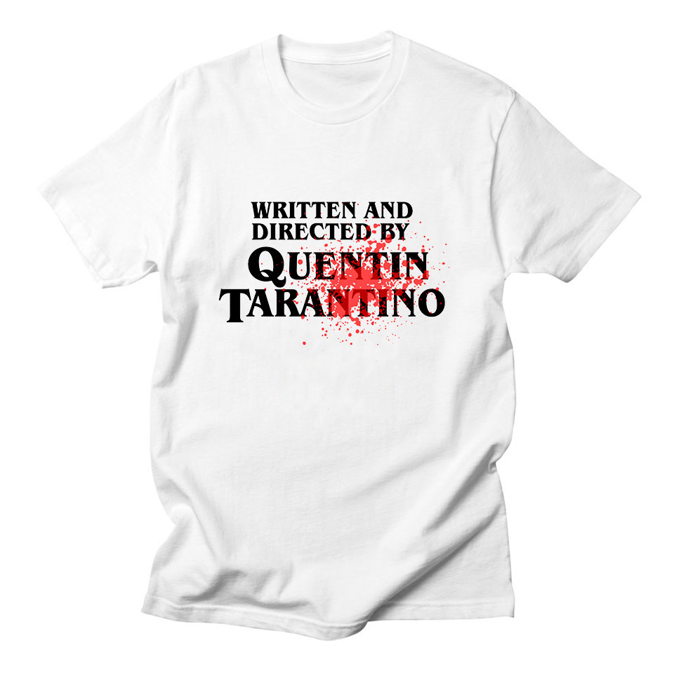 6698b7c675ba40 Written and Directed By Quentin Tarantino Womens T Shirts for Women Summer  New European Style Fashion White T Shirt Women Cotton