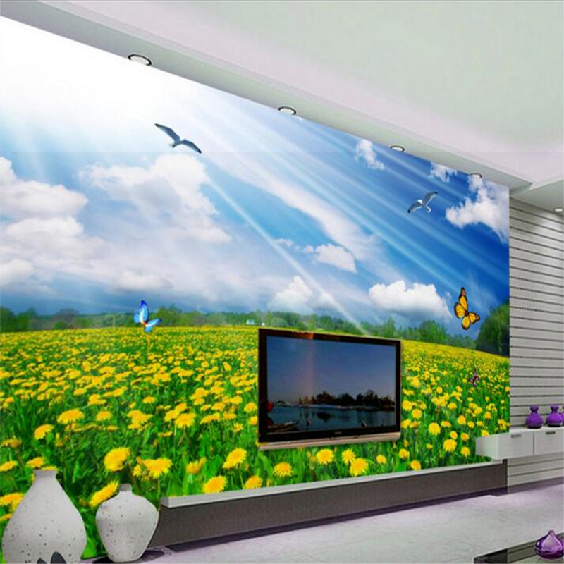 Beibehang Bespoke Wallpaper Of Any Size Mural 3d Beautiful Pansy