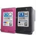 Cartucho de tinta compatível para HP 122 122XL preto e cor CH563H CH564H para HP Deskjet 1000 1050 2000 2050 de impressora
