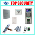 Biometric fingerprint door access control system TCP/IP standalone door access control board with 280KG EM lock power supply