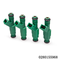 4pcs Set High Quality High Flow 440CC Green Giant EV6 Fuel Injector 0280155968 9202100 For Audi
