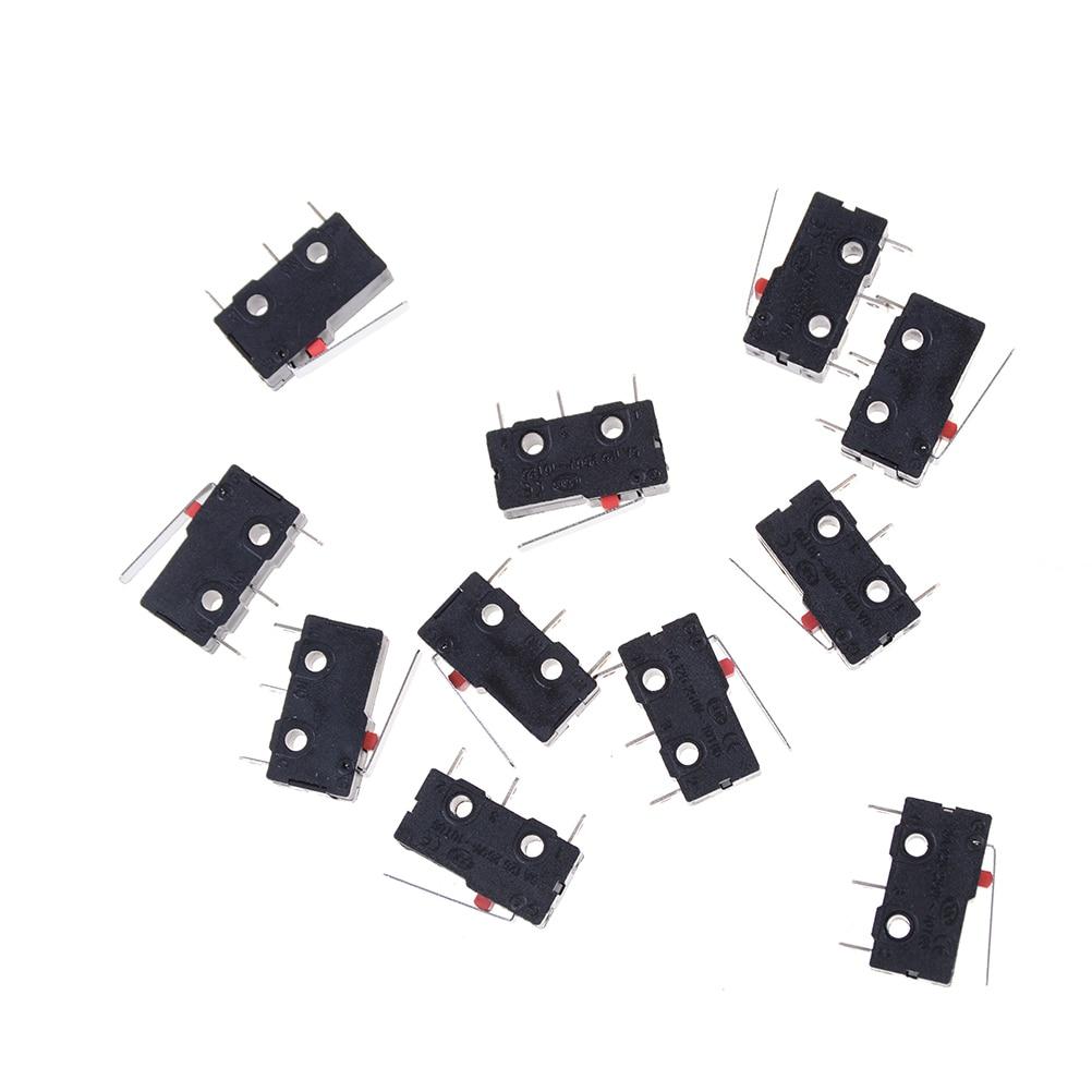 Новый 10 шт. концевой выключатель 3 Pin n/o n/c 5A 250VAC KW11-3Z Микровыключатель Черный Лидер продаж