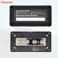 Heavy Duty Module Design Bus Bar Box Terminal Board 300A with 4 Terminal Studs Car Styling Highest amperage rated bus bar SUV